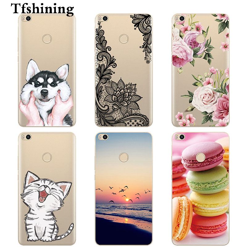 Tfshining Case For Xiaomi <font><b>Mi</b></font> Max 2 Silicone Cartoon Cover Fundas For Xiomi <font><b>Mi</b></font> Max 2 Protective Shell Bags Cases capa <font><b>Xaomi</b></font> <font><b>max2</b></font> image