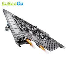 Nave Espacial de Star Wars 05028 Destructor Estelar Imperial 3208 unids Building Block Darth Vader Regalo Minifigure Juguetes Compatible Con 10221