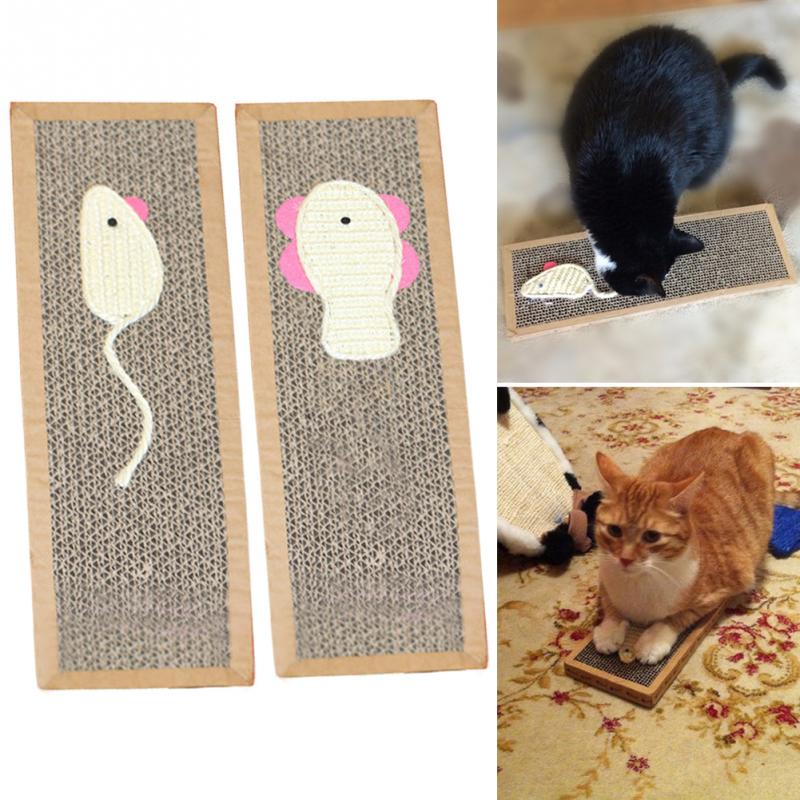 Pets Cats Scratching Toy Mouse Fish Pattern Cat Scratch Board Scratching Post Pet Cats Playing Supplies Drop Shipping #0524 #2