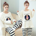 Pregnant women breast - feeding pajamas  clothing with cashmere flannel pregnant women postpartum lactation clothes
