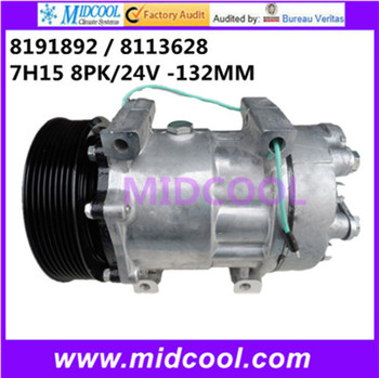 HIGH QUALITY AUTO AC COMPRESSOR 7H15 FOR VOLVO    8191892   8113628