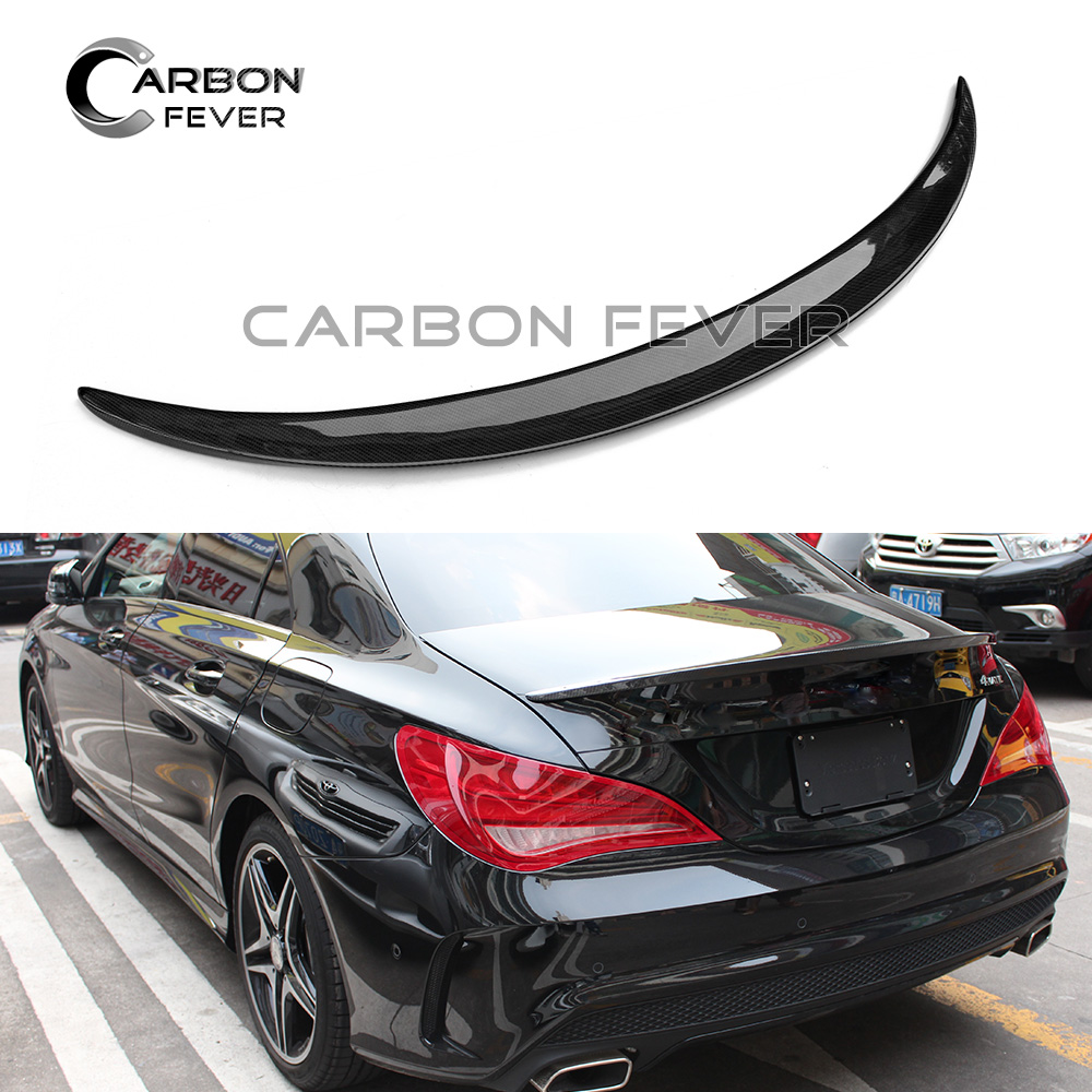 Carbon Firber Car Spoiler For Mercedez CLA 250 W117 2014 2018 High Quality Rear Trunk Boot