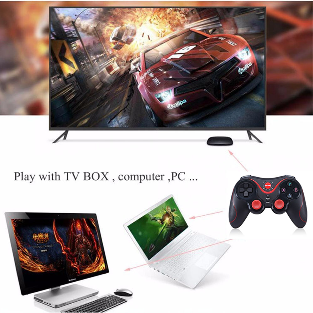 Harga Penawaran S5 Gen Game Wireless Bluetooth Gamepads Joystick Terios T3 Gamepad Holder Jp Android Smartphone Vr Box Tv Is Compatible With 40 Windows Xp And Later Versions Applicable To Ps3 It Can Be Connected Via 24ghz Connection