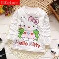 Algodão Primavera Outono t-shirt de Manga Comprida para As Meninas Da Moda Meninos Camisetas Crianças Tops Tees Camisolas das Crianças da Roupa Do Bebê