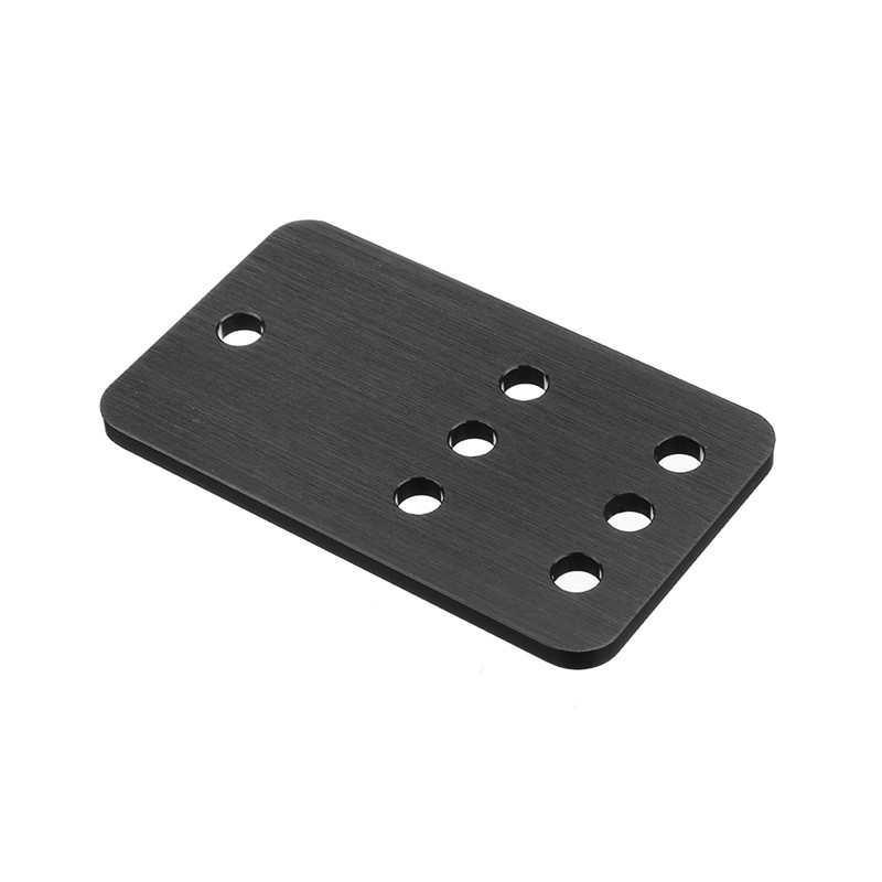 Aluminum Idler Pulley Plate Mounting Plate Pulley Board For V-Slot Linear Rail CNC Aluminum Extrusions Profiles Black