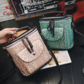 Vintage fashion stripes ethnic style pu leather women's handbags casual totes shoulder bag ladies crossbody messenger bag