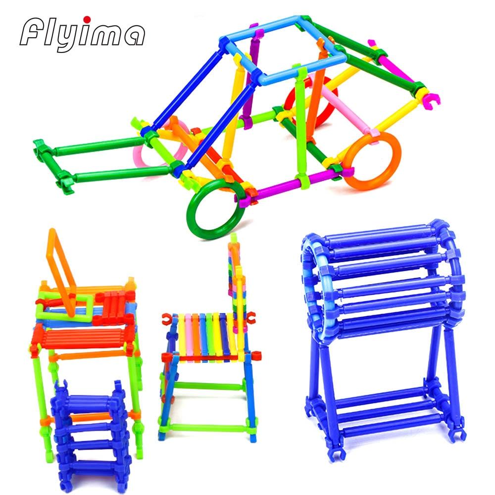 250pcs Montessori stick Building Blocks toys for children Kids DIY early education Intelligence Sticks Playmobil