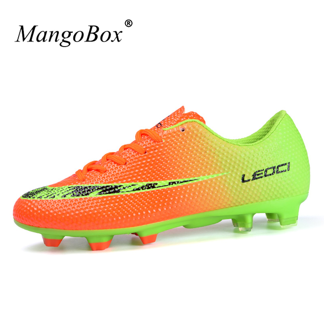 MangoBox 2017 Soccer Cleats Men Blue Orange Football Shoes Kids  Hard-Wearing Athletics Spikes Shoes Cheap Latest Soccer Boots fdb0336a70ee