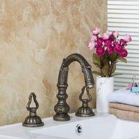 Wholesale High Quality 100 Solid Copper Ancient Lavatory Faucet Antique Country Deck Mount Classic Single Lever
