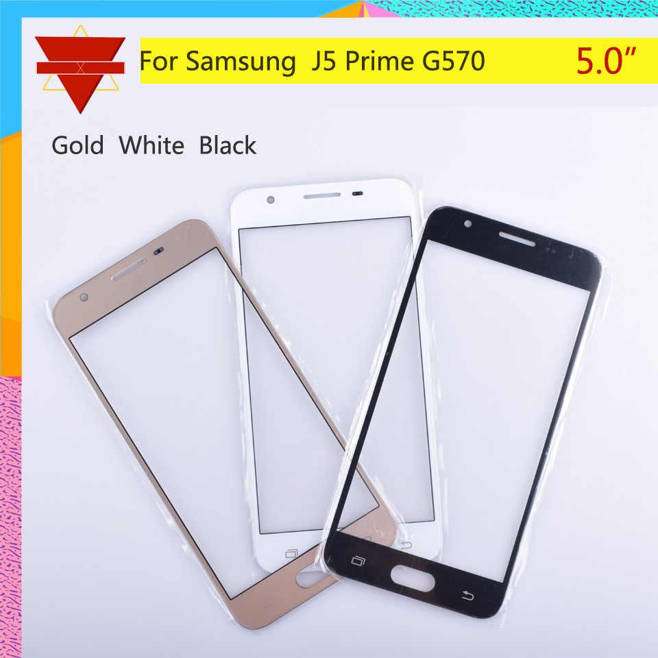 10 cái/lốc Dành Cho Samsung Galaxy Samsung Galaxy J5 Thủ G570 G570F Kính Bên Ngoài Trên/Ống Kính Trước Màn Hình Mặt Trước Bao Da (Không Có bộ số hóa) màn Hình cảm ứng