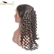 hot deal buy 13x6 lace front wig deep wave hair lace frontal human hair wigs brazilian remy hair lace wig full ross pretty hair product