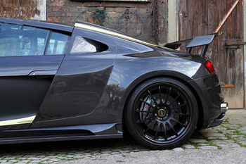 Fit for  Audi R8 PPI R8 modified carbon fiber large encircling tail spoiler wing