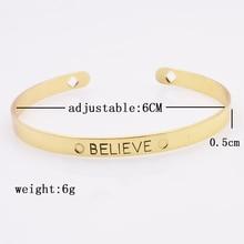 Iron Letter Brave Wish Mix Design Cuff Bangle/Bracelet