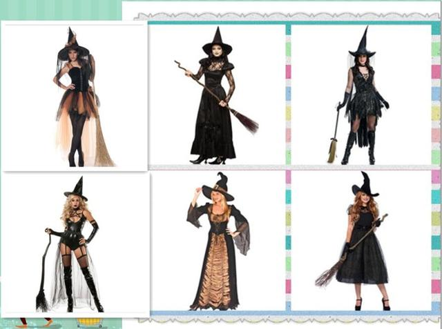 Halloween Deluxe Women Black Witch Costume Adult Party Fancy Dress Outfit  Magician Vampire Green Fancy Dress bbef617c4600