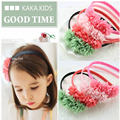 Retail  Fashion baby girl hair  flower band kids headband hair cute  band children hair accessories