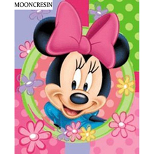 5D Diamond Painting Mickey Mouse Full Square Cross Stitch Diy Embroidery Diamond Mosaic Painting Rhinestone Decoration Minnie 5d diy diamond painting cross stitch kits full square diamond embroidery disney mickey minnie mouse rhinestone mosaic pattern