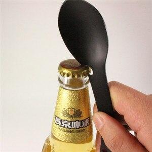 5 в 1, многофункциональная ложка из нержавеющей стали, открывалка для бутылок, нож, портативные столовые приборы, Spork вилка, ложка для кемпинг...