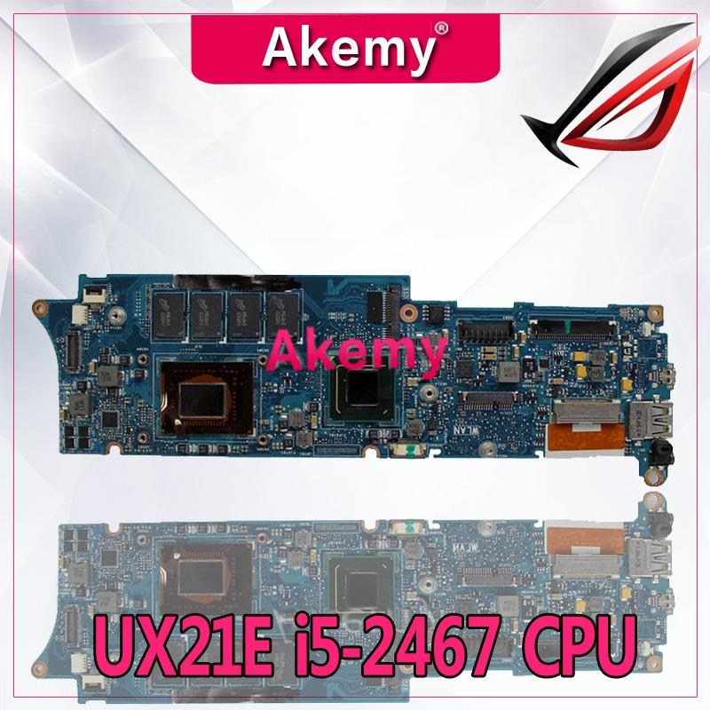 Akemy UX21E With i5-2467 CPU 4GB RAM Mainboard REV3.1 For Asus UX21 UX21E laptop motherboard USB 3.0 100% tested WorkingAkemy UX21E With i5-2467 CPU 4GB RAM Mainboard REV3.1 For Asus UX21 UX21E laptop motherboard USB 3.0 100% tested Working