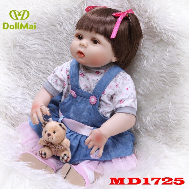 Bebes reborn silicone reborn bébé poupées jouets pour enfants cadeau d'anniversaire 22