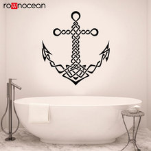 Ocean Anchor Ship Sea Marine Style Sailor Art Wall Stickers Nautical Home Decor Bathroom Decals Removable Mural Wallpaper 3153