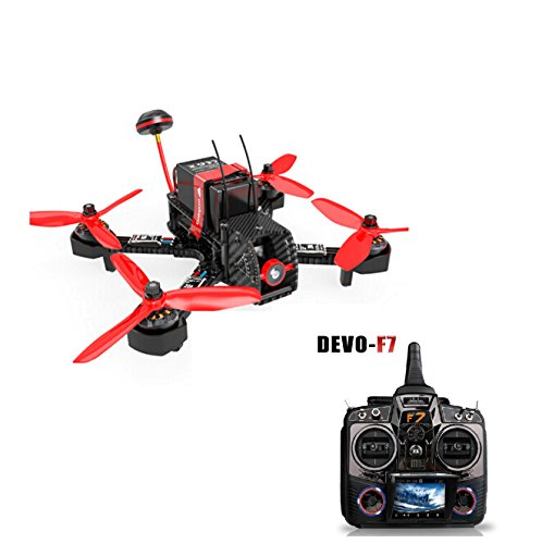 Walkera Furious 215 215mm F3 5.8G 600TVL Camera 8CH BNF Multirotor RC Toys FPV Racing Drone + Devo 7/10 Devo F7/F12 Transmitter walkera aluminum case for devo f12e fpv radio 5 8ghz transmitter silver