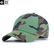 7205cfab779 WUKE New Arrival Camouflage Baseball Cap Men s Snapback Hats Gorras  Militares Hombre Women Adjustable Sports Caps For Outdoor