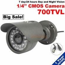 Free shipping!security cctv Camera 700tvl Outdoor Waterproofwith 30Pcs IR cut night Vision adjustable bracket Home Surveillance