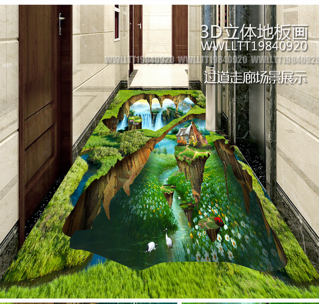 Free Shipping Custom 3d Photos On The Bedroom Floor Painting Wallpaper Hotel Supermarket Flooring Painting 3d