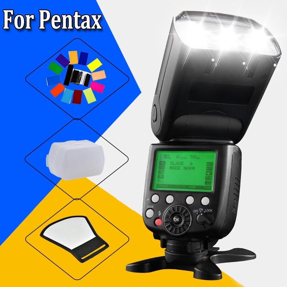 Pixel M8 LCD Display Screen Wireless High Performance Flash Speedlite For Pentax K-7, K-x, K-m, K20D, K10D etc DSLR Cameras genuine meike mk950 flash speedlite speedlight w 2 0 lcd display for canon dslr 4xaa