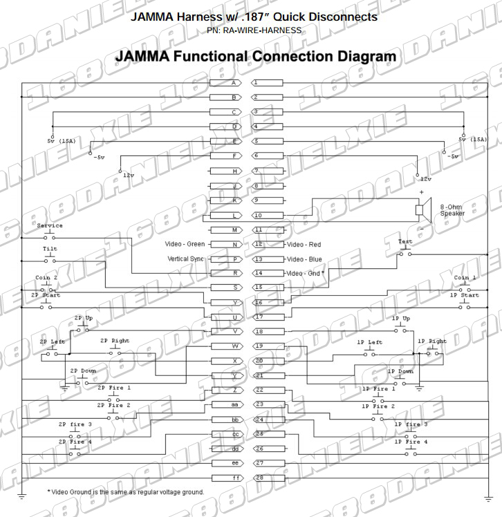 arcade motherboard cabinet wire wiring harness loom multicade arcade rh aliexpress com  jamma 60 in 1 wiring diagram