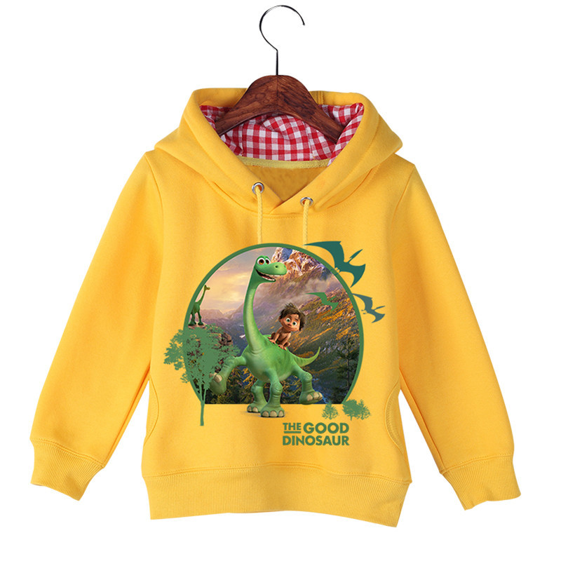Hot Sale Baby Girl Boy Cartoon Long Sleeve The Good Dinosaur Printing Sweatshirts Baby Kids Autumn Winter Hoodie Tops GCM017 (3)