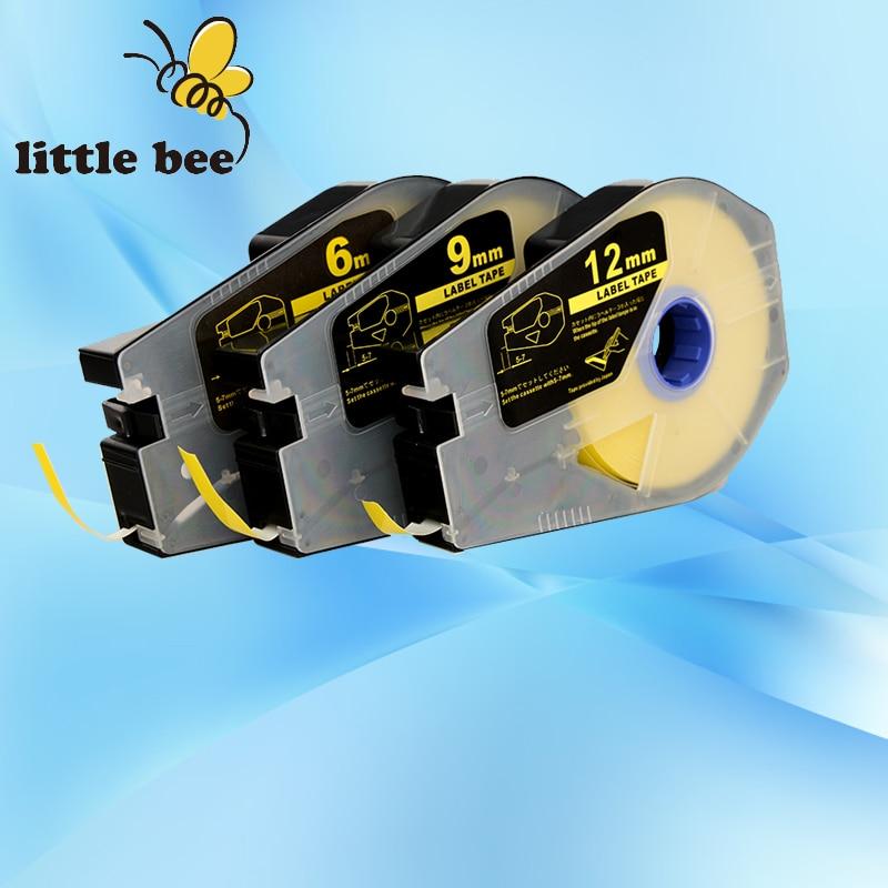Cable Id Printer Tube Printer Mk1000 Mk2000 Mk1100,mk2100 Mk1500 Mk2500 Sunny Free Shipping Label Tape Cassette 12mm X 27m silver
