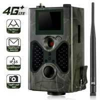 HC330 LTE 4G Cámara sendero 16MP cámara de caza IP65 0,5 s foto trampas de la visión nocturna infrarroja de salvaje Cam Hunter los Scouts Chasse SMS