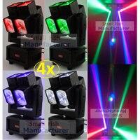 4 xLot DJ Americano Único Eixo Duplo Led Luz Em Movimento Da Cabeça 8x12 W CREE Lâmpadas Led Luzes de Efeito Palco DJ Discoteca DMX Feixe de Laser lavagem