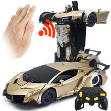 Car Rc Drift 2In1 Auto Control 4wd Big On The Remote Toy Kit Transformation Robots Deformation Brushless Nitro