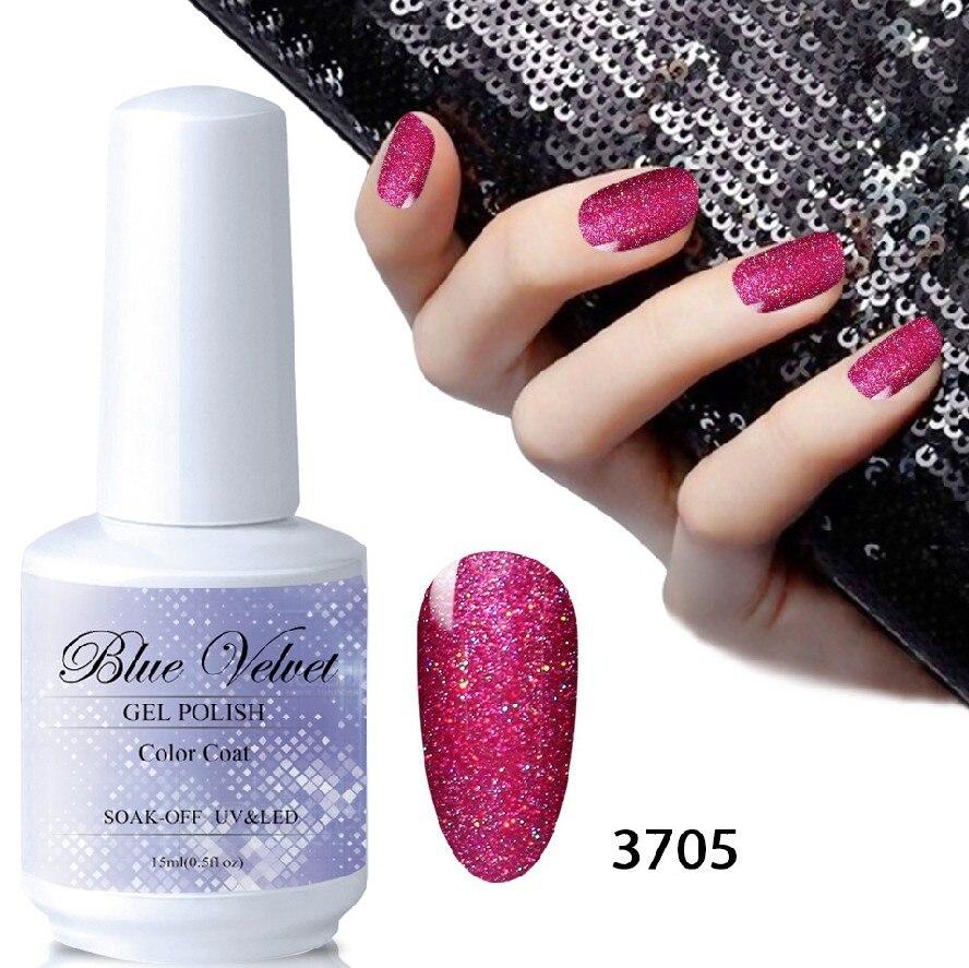 Blue Velvet 15ML Rainbow Dust Nail Polish Shiny Neon