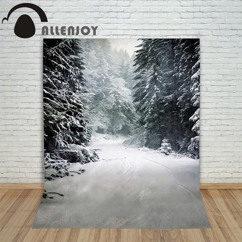 Christmas children's photo background Snow forest winter blur backdrop photography vinyl studio camera lovely