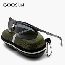GOOSUN Brand Aluminum Luxury Polarized Sunglasses Men Sport Driving Mirror High Quality Sun Glasses night vision Eyewear and box