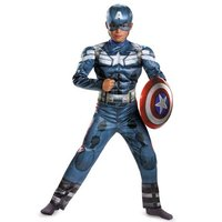 Captain America Costume Avengers Child Cosplay HALLOWEEN PARTY CARNIVAL SUPPLY Kids Superhero Costume