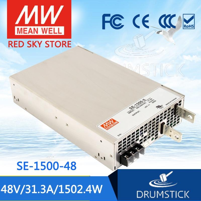 (12.12)MEAN WELL original SE-1500-48 48V 31.3A meanwell SE-1500 48V 1502.4W Single Output Power Supply mean well original se 1000 12 1000w 83 3a 12v single output meanwell power supply 3 years warranty
