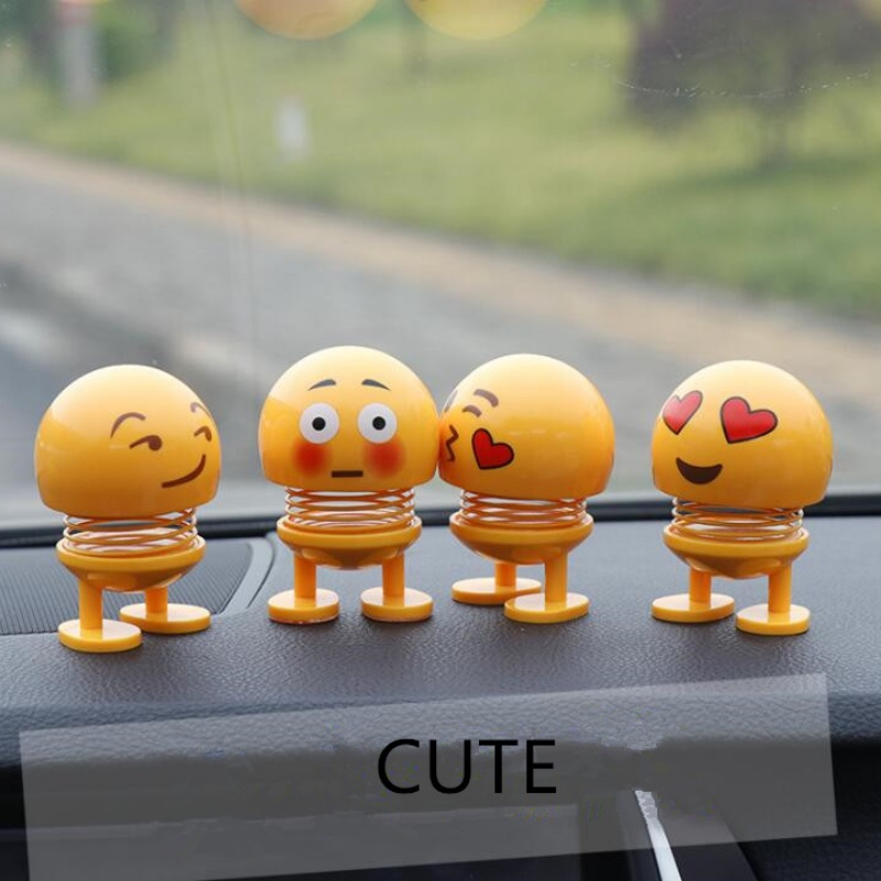Shaking Head Toys Car Ornaments Bobblehead Nod Dolls Cute Cartoon