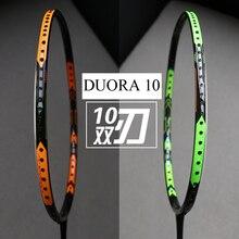 badminton racket racquet duora 10 LCW 4Ubag+grip+ badminton string 26lbs bg95
