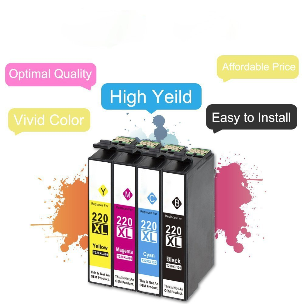 20 Pack Compatible Epson T220 XL Ink cartridge For Epson