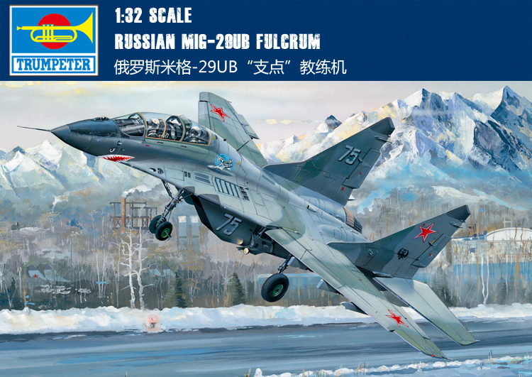 RealTS Trumpeter 1/32 03226 Russian MiG-29UB Fulcrum Aircraft Model Kit [model] trumpeter ta 3b 02870 1 48 us air warrior attack aircraft