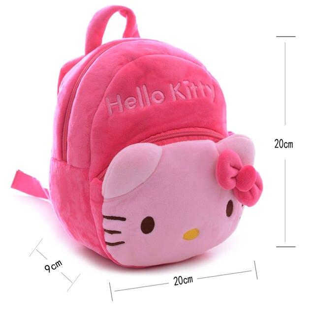 Kawaii Peluche 2 Couches Hello Kitty Sacs à Dos Cartables De Bande Dessinée Meilleurs Cadeaux De Noël Pour Les Enfants Filles 1 3 Ans 816816
