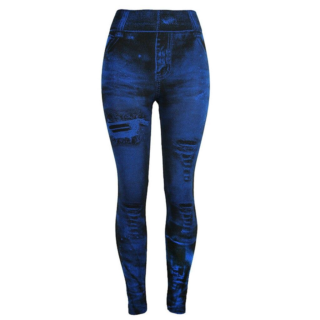 Unique style fashion beautiful and elegant Women   Jeans   Bottom Pants Coloured Hip-up Super Bomb Slim Nine-minute Navy Pant W30416