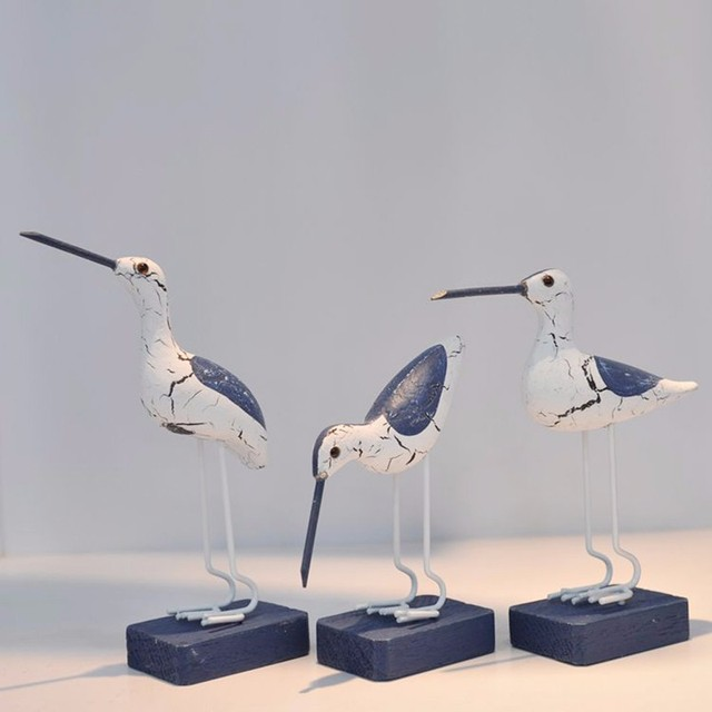 Mediterranean Style Seabirds Figurines 3 Pcs Set 2