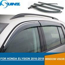 حاجب نافذة لسيارة Honda ELYSION 2016 2018 حاجب نافذة جانبية واقي مطر لسيارة Honda ELYSION 2016 2017 2018 SUNZ