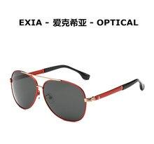 Red Temple Frame Men's Fashion Sunglasses Aviator Polarization Vision Lenses EXIA OPTICAL KD-8116 Series