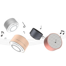 Metal Bluetooth Speaker a10 with Microphone Portable Mini Super Bass Subwoofer Stereo Speaker FM Radio Support TF Card MP3 music(China)